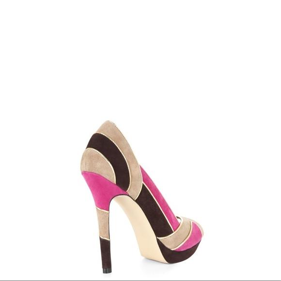 New BCBG Linden Colour Block Heels, Size 7.5